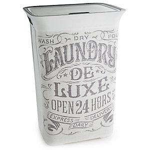 Nostalgic Print Laundry Basket Lidded