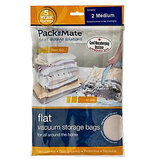 2 Pack-Mate® Anti Mould Clothes Vacuum Storage Bags - 45 x 61cm alt image 2