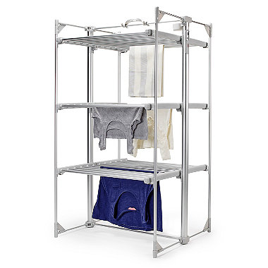 Dry:soon Deluxe 3-tier heated tower airer