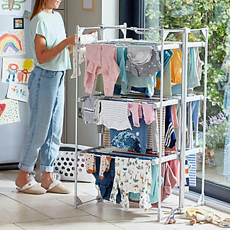 Dry:Soon Deluxe 3-Tier Heated Airer alt image 2