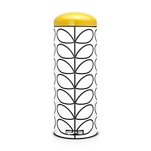 Brabantia® Orla Kiely Retro Kitchen Waste Pedal Bin - White 20L