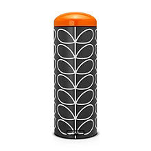Brabantia® Orla Kiely Retro Kitchen Waste Pedal Bin - Black 20L