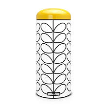 Brabantia® Orla Kiely Retro Kitchen Waste Pedal Bin - White 30L