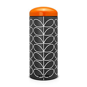 Brabantia® Orla Kiely Retro Kitchen Waste Pedal Bin - Black 30L