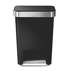 simplehuman® Kitchen Waste Pedal Bin - Black 45L