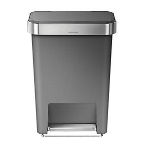 simplehuman® Kitchen Waste Pedal Bin - Grey 45L