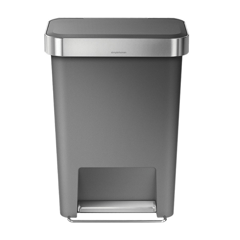 simplehuman® Kitchen Waste Pedal Bin - Grey 45L