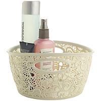 Mini Lace-Effect Storage Tub Cream