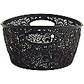 Mini Lace-Effect Storage Tub Black