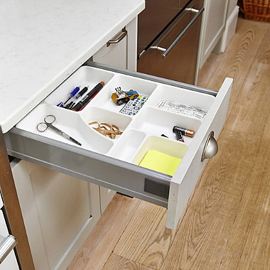 Madesmart® Drawer Organiser Junk Tidy Tray 8 Hole - White