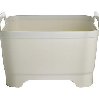 Joseph Joseph® Wash & Drain Washing Up Bowl & Plug - White & Grey