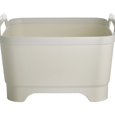 Joseph Joseph® Wash & Drain Washing Up Bowl & Draining Plug - White & Grey