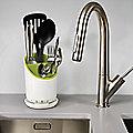 Joseph Joseph® Dock Cutlery Drainer White / Green