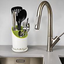 Joseph Joseph® Dock Sink Cutlery Holder & Drainer - White & Green