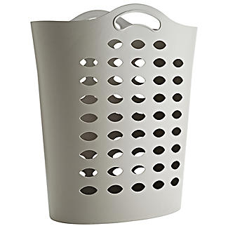Tall Flexible Cappuccino Plastic Laundry Basket 55L