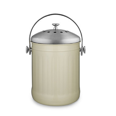 Country Pail Caddy Food Compost Bin - Cream 4.5L