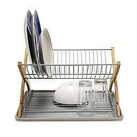 Umbra® Stack Large 2 Tier Dish Drainer Rack