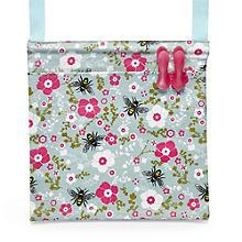 Pretty Bee Oilcloth Peg Bag