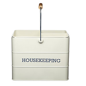 Living Nostalgia Antique Cream Housekeeping Box