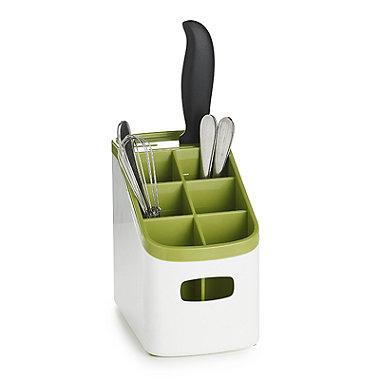 ILO Sink Cutlery Holder & Drainer - White & Green