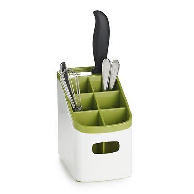 ILO Sink Cutlery Holder & Drainer  White & Green