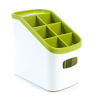 ILO Sink Cutlery Holder & Drainer - White & Green alt image 3