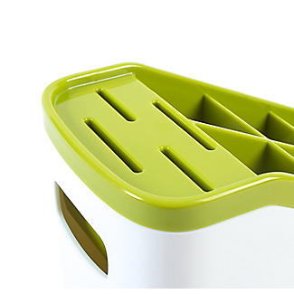 ILO Sink Cutlery Holder & Drainer - White & Green alt image 6