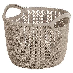 Exta Small Knit-Effect Basket Dune