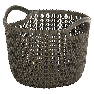 Extra Small Knit-Effect Basket Chocolate alt image 1
