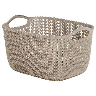 Small Knit-Effect Tub Dune