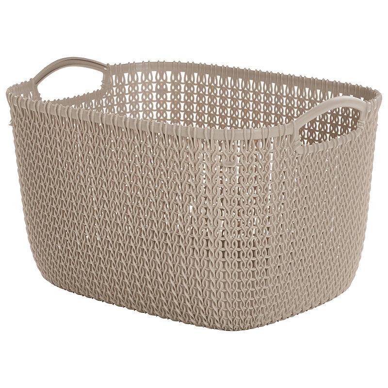 Large Knit-Effect Tub Dune
