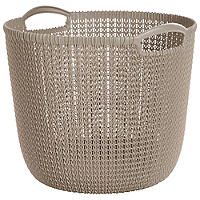 Large Round Knit-Effect Tub Dune