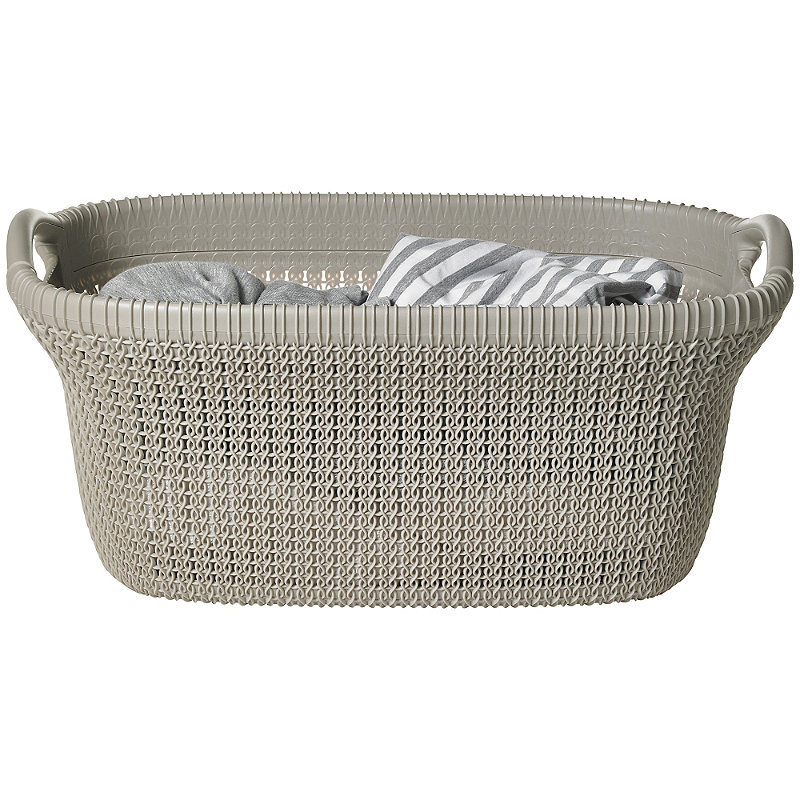 Knit-Effect Laundry Basket Dune