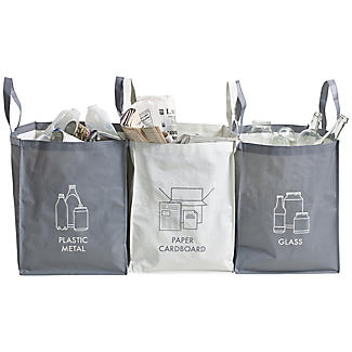 3 Household Waste Recycling Bags 44L each alt image 1
