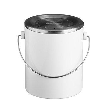 Typhoon® Hudson Caddy Food Compost Bin - White 3L
