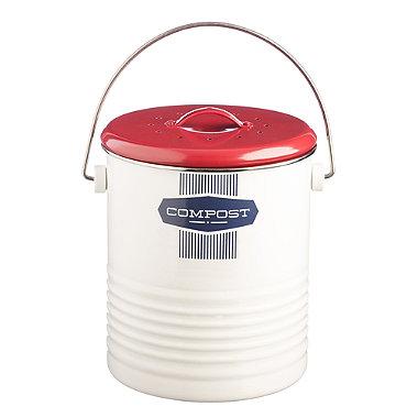 Typhoon® Belmont Caddy Food Compost Bin - White 2.5L