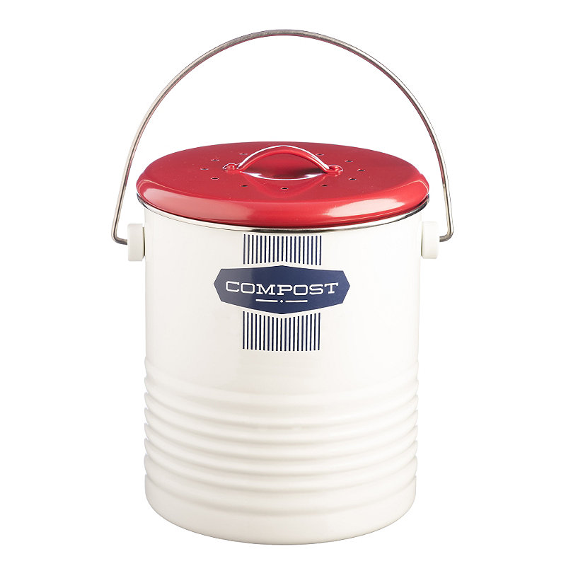 Typhoon® Belmont Caddy Food Compost Bin - White