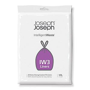 20 Joseph Joseph® Intelligent Waste Bin Liners - Black Bags 17L