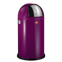 Wesco® Pushboy Retro Kitchen Waste Push Top Bin - Purple 50L
