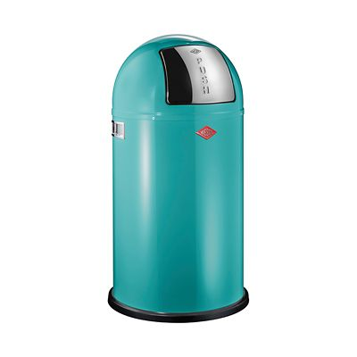 wesco pushboy bin 50l turquoise. Black Bedroom Furniture Sets. Home Design Ideas