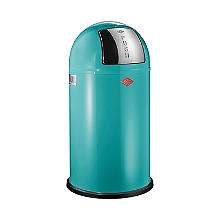 Wesco® Pushboy Retro Kitchen Waste Push Top Bin - Turquoise 50L