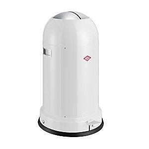 Wesco® Kickmaster Retro Kitchen Waste Pedal Bin - White 33L