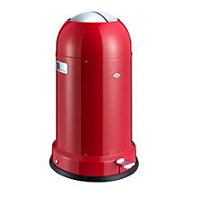 Wesco® Kickmaster Retro Kitchen Waste Pedal Bin - Red 33L