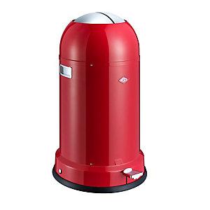 Wesco® Kickmaster Retro Kitchen Waste Pedal Bin - Red 33L