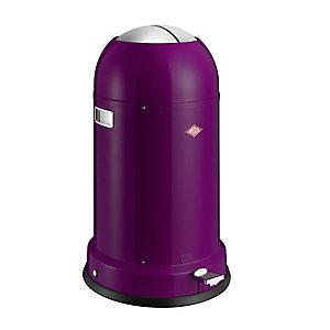 Wesco® Kickmaster Retro Kitchen Waste Pedal Bin - Purple 33L