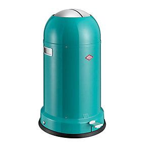 Wesco® Kickmaster Retro Kitchen Waste Pedal Bin - Turquoise 33L