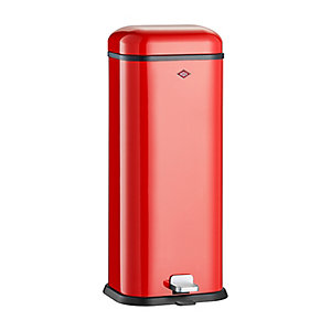 Wesco® Superboy Compact Kitchen Waste Pedal Bin - Red 20L