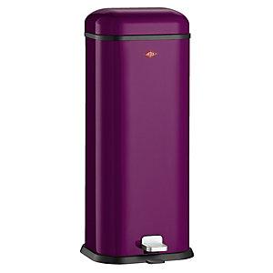 Wesco® Superboy Compact Kitchen Waste Pedal Bin - Purple 20L