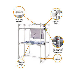 Dry:Soon Deluxe 2-Tier Heated Airer alt image 2