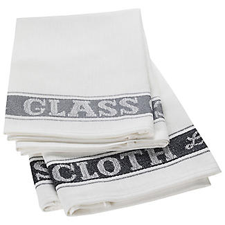 2 Glass Cloths Grey/Grey